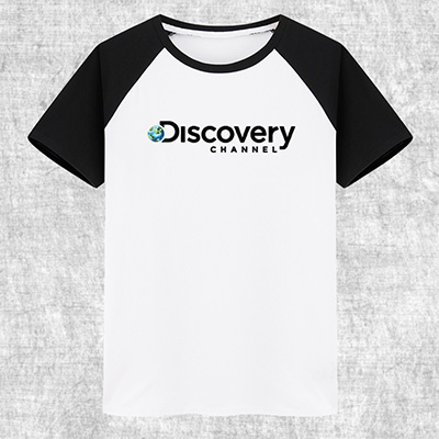 Discovery プリント 自転車Tシャツ 半袖 100%綿 8色